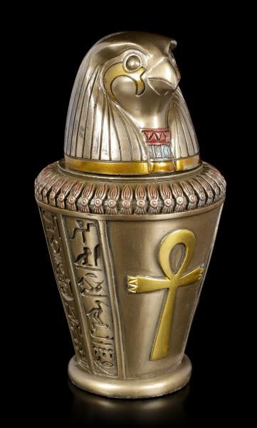 Kanopenkrug - Horussohn Kebechsenuef - bronziert