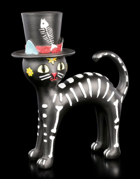 Black Cat Figurine with Topper