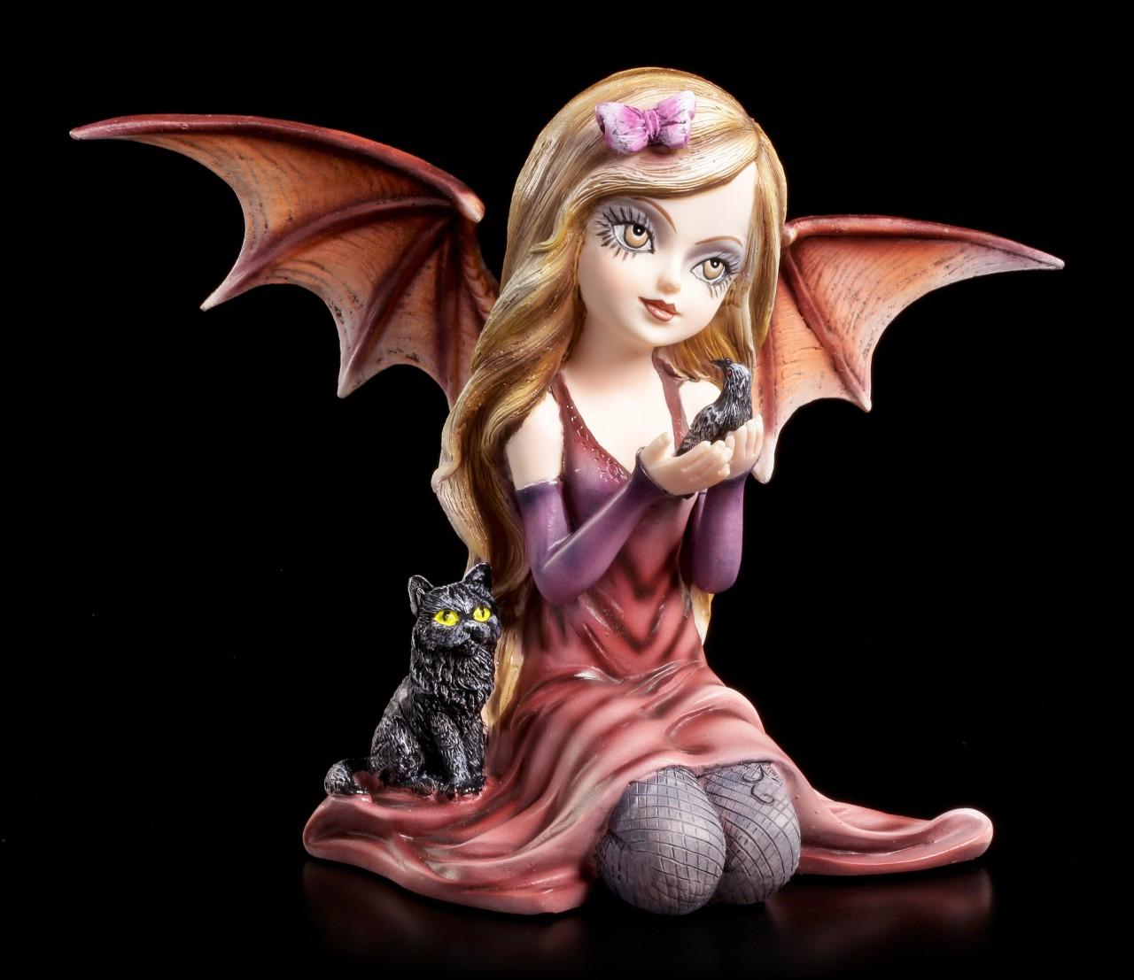 Dark Angel Figur - Shaylee mit Katze
