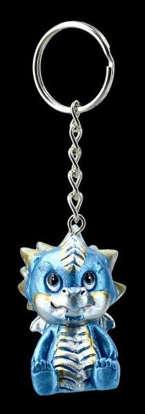 Schlüsselanhänger - Niedlicher Drache - blau