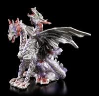 Zweiköpfige Drachen Figur mit Glitter