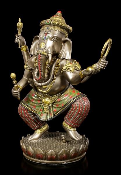 Buddha Figur - Ganesha auf Lotus