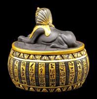 Ägyptisches Schmuckdöschen - Sphinx