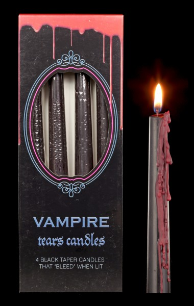 Drip Candles reversible Set of 4 - Vampire Tears