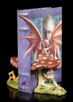 Pixie Figur im Pilz als Buchstützen Set