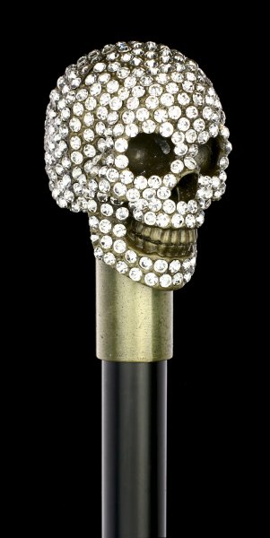 Swaggering Cane - Skull with Gemstones