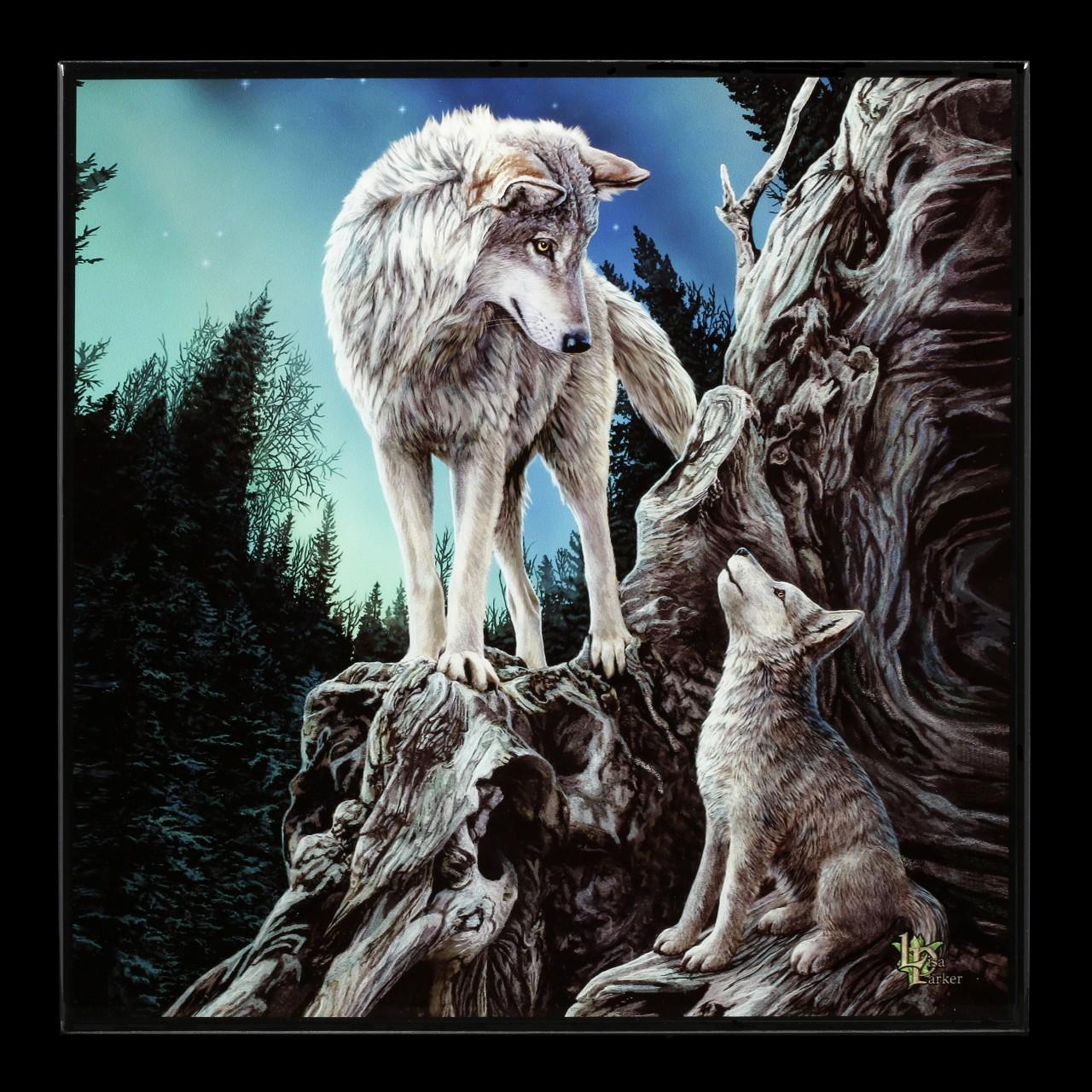 Kleines Hochglanz Bild mit Wölfen - Guidance