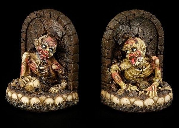Buchstützen - Zombies kriechen aus Grab