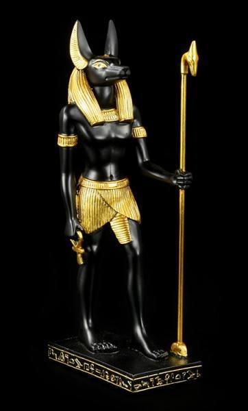 Anubis Figur mit Stab