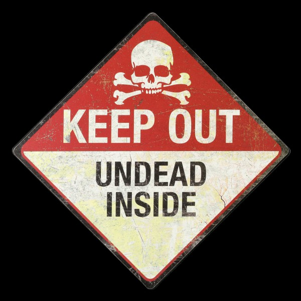 Metall Schild - Keep Out - Undead Inside