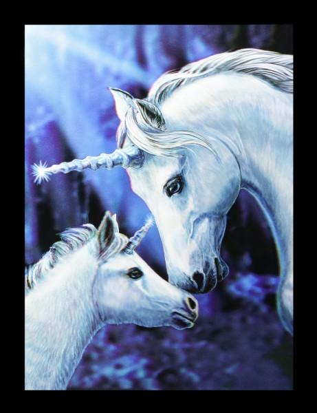 3D Bild mit Einhörnern - Sacred Love