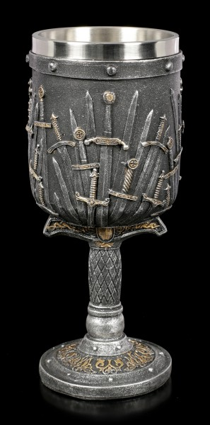 Large Medieval Goblet - Sword of the King