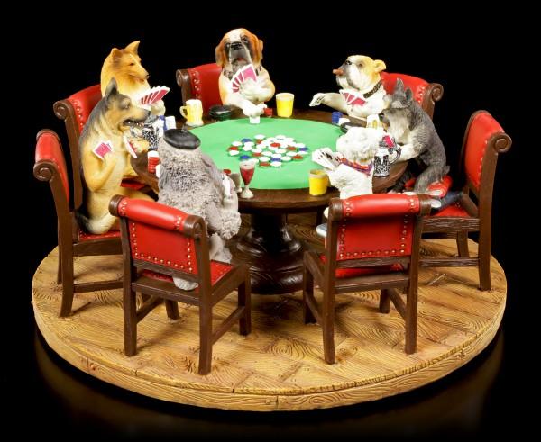 Hunde spielen Poker - Figur