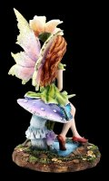 Fairy Figurine - Fani sitting on Mushroom