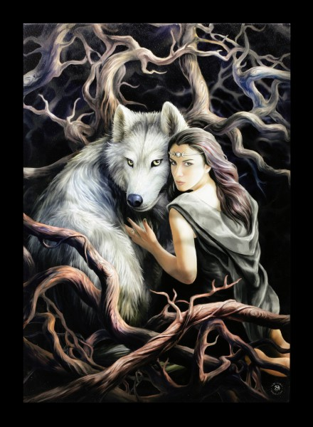Große Leinwand mit Wolf - Soul Bond