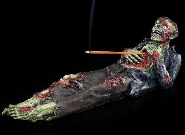 Räucherhalter - Aufgespießter Zombie