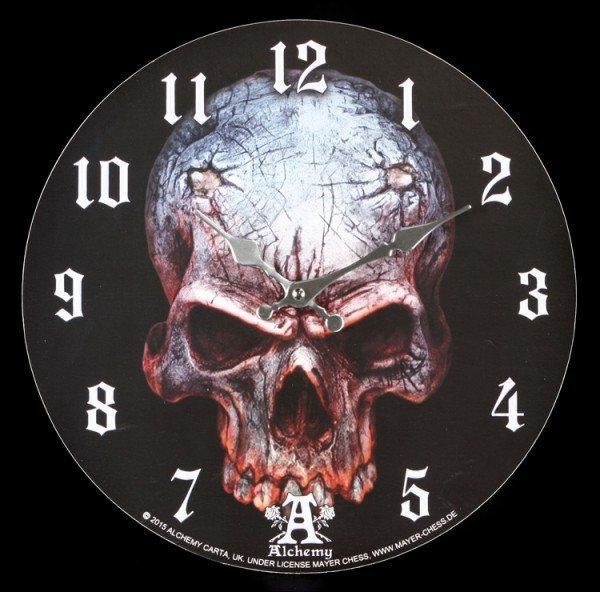 Wanduhr Totenkopf - Birth Of A Demon - Alchemy