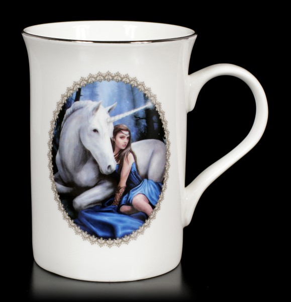 Tasse mit Einhorn - Blue Moon by Anne Stokes