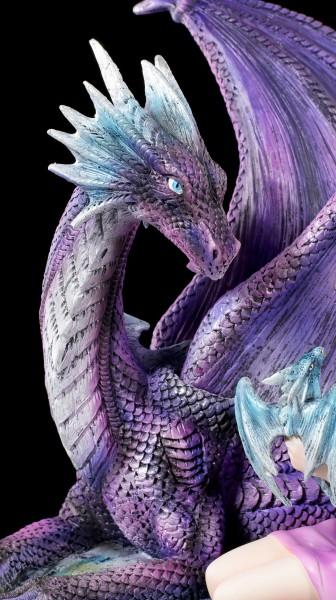 Drachen Figur mit Elfe - Mothers Love