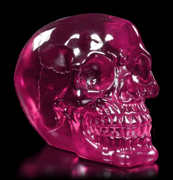 Durchsichtiger Totenkopf - Pink Brain