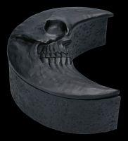 Schatulle - Totenkopf Mond schwarz