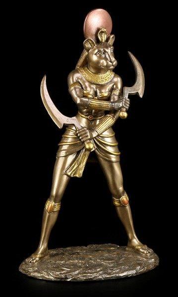 Sachmet Figur - Ägyptische Göttin - bronziert