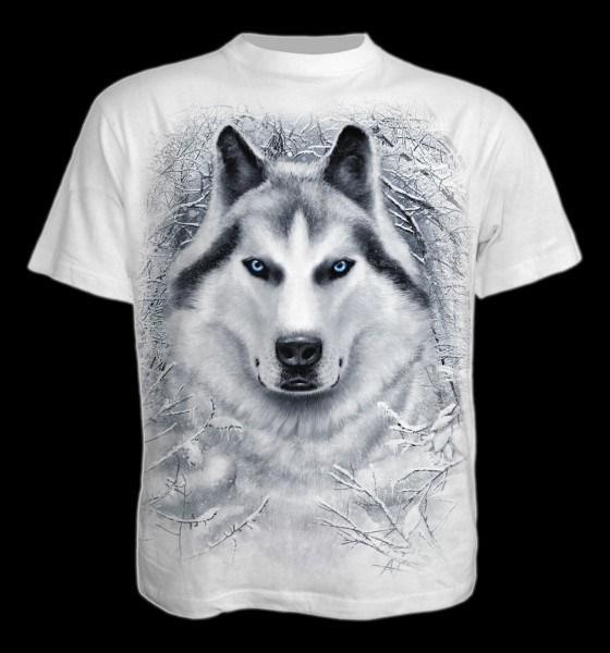 T-Shirt Fantasy weiß - White Wolf