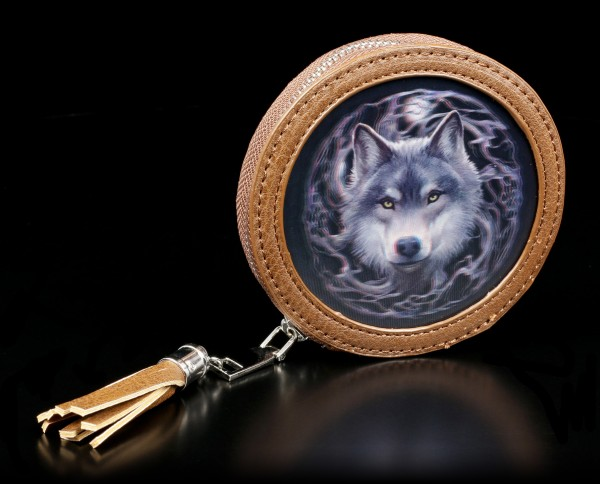 3D Coin Purse with Wolf - Night Forest