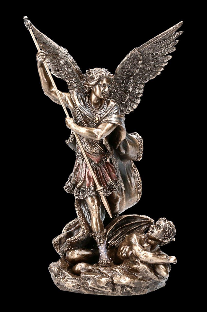 Archangel Michael Figurine with Spear