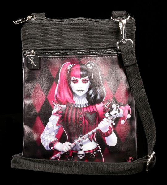Small Shoulder Bag with Harlekin - Dark Jester