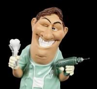 Funny Job Figur - Zahnarzt mit Bohrer
