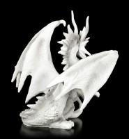 Drachen Figur - Checkmate Dragon - weiß