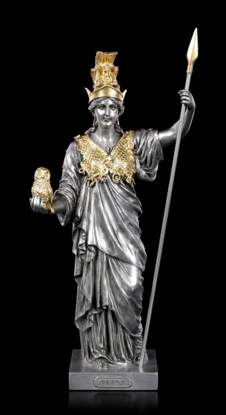 Athena Figurine - Greek Goddess silver-gold