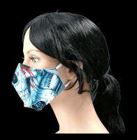 Gesichtsmaske Totenkopf - Mechanical Skull