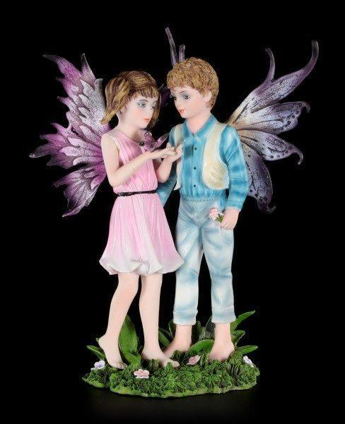 Fairy Figurine - Boy and Girl - Look, a Butterfly