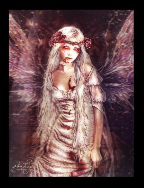 3D-Bild mit Vampirin - Ophelias Dream