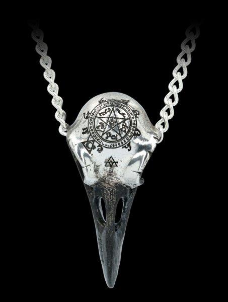 Alchemy Hexen Halskette - Volvan Raven Skull