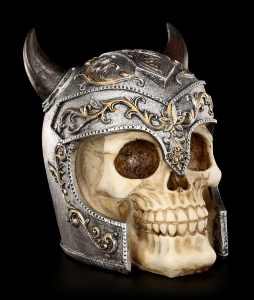 Skull with Viking Helmet