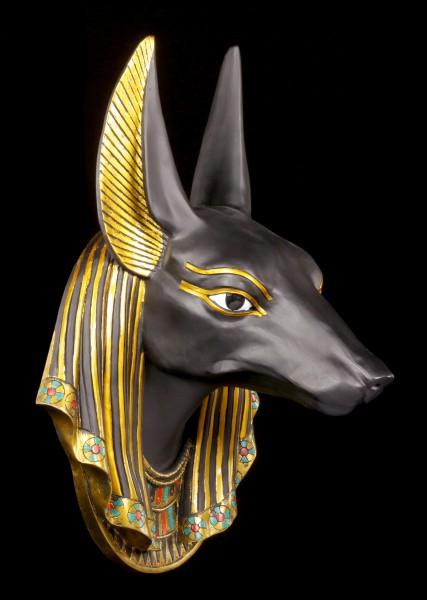 Ägyptisches Wandrelief - Anubis Kopf