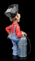 Funny Jobs Figur - Schweißer in blauer Latzhose