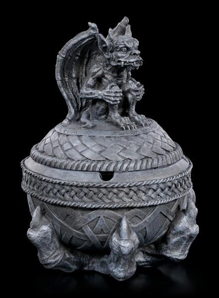 Aschenbecher - Gargoyle auf Kugel