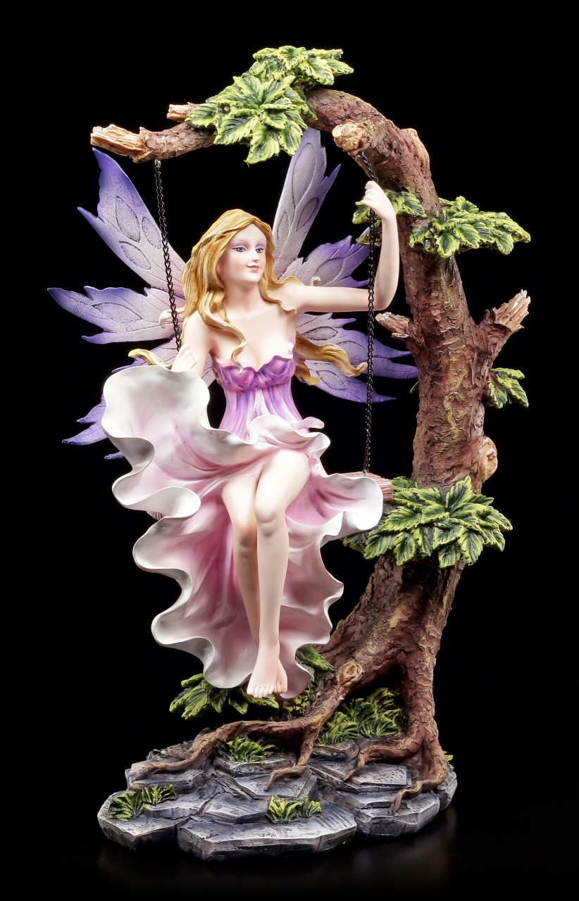 Fairy Figurine on Swing - Summerswing