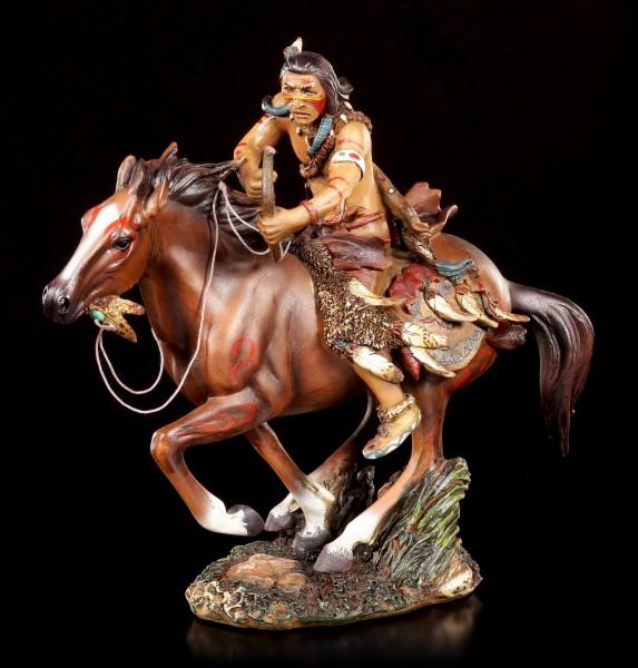 Indianer Figur - Krieger auf Pferd