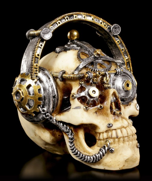 Steampunk Skull - Techno Talk small
