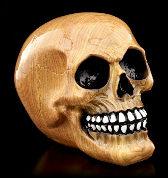 Colourful Skull - Wooden