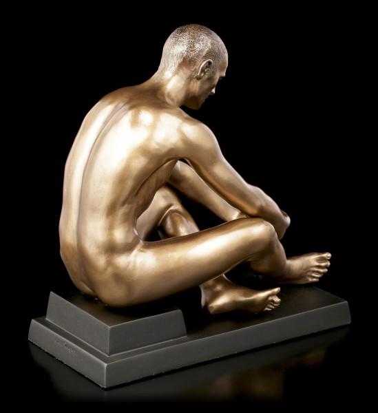Male Nude Figurine - Sitting on Pedestal