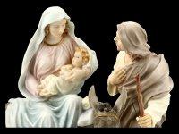 Maria, Josef und Jesus Figur - Heilige Familie bunt