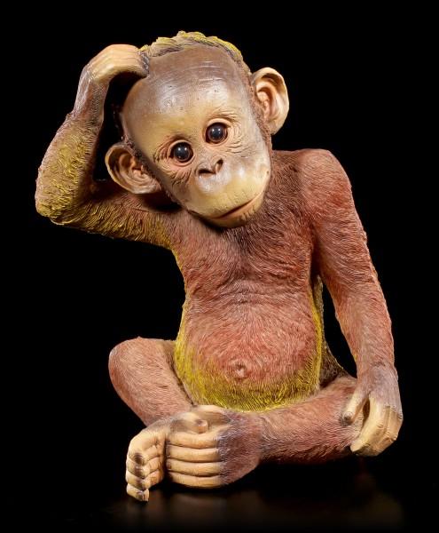 Gartenfigur Affe - Orang-Utan Baby