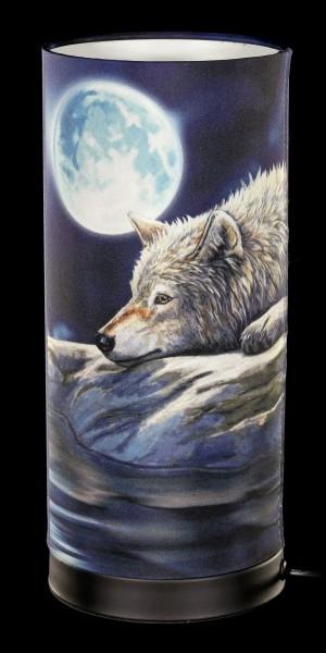 Tischlampe mit Wolf - Quiet Reflection