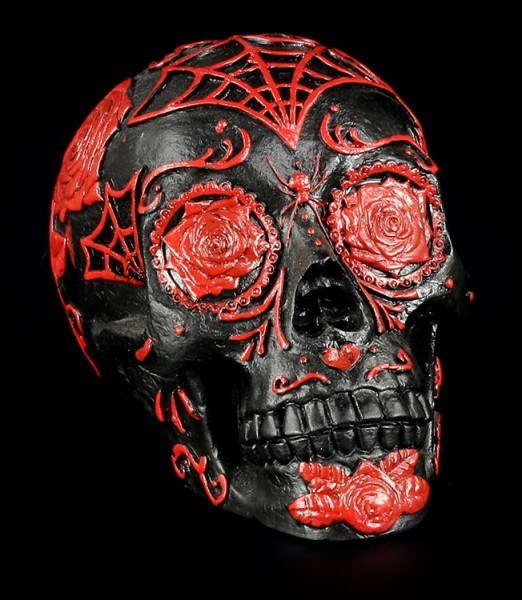 Rose Spider Skull - Black